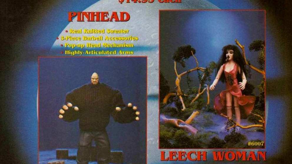 Puppet Master action figures - Pinhead and Leech Woman