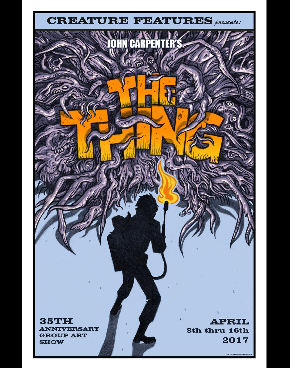 the thing creature features - Printed in Blood Celebrating The Thing's 35th Anniversary With a Gorgeous Artbook of Original Pieces