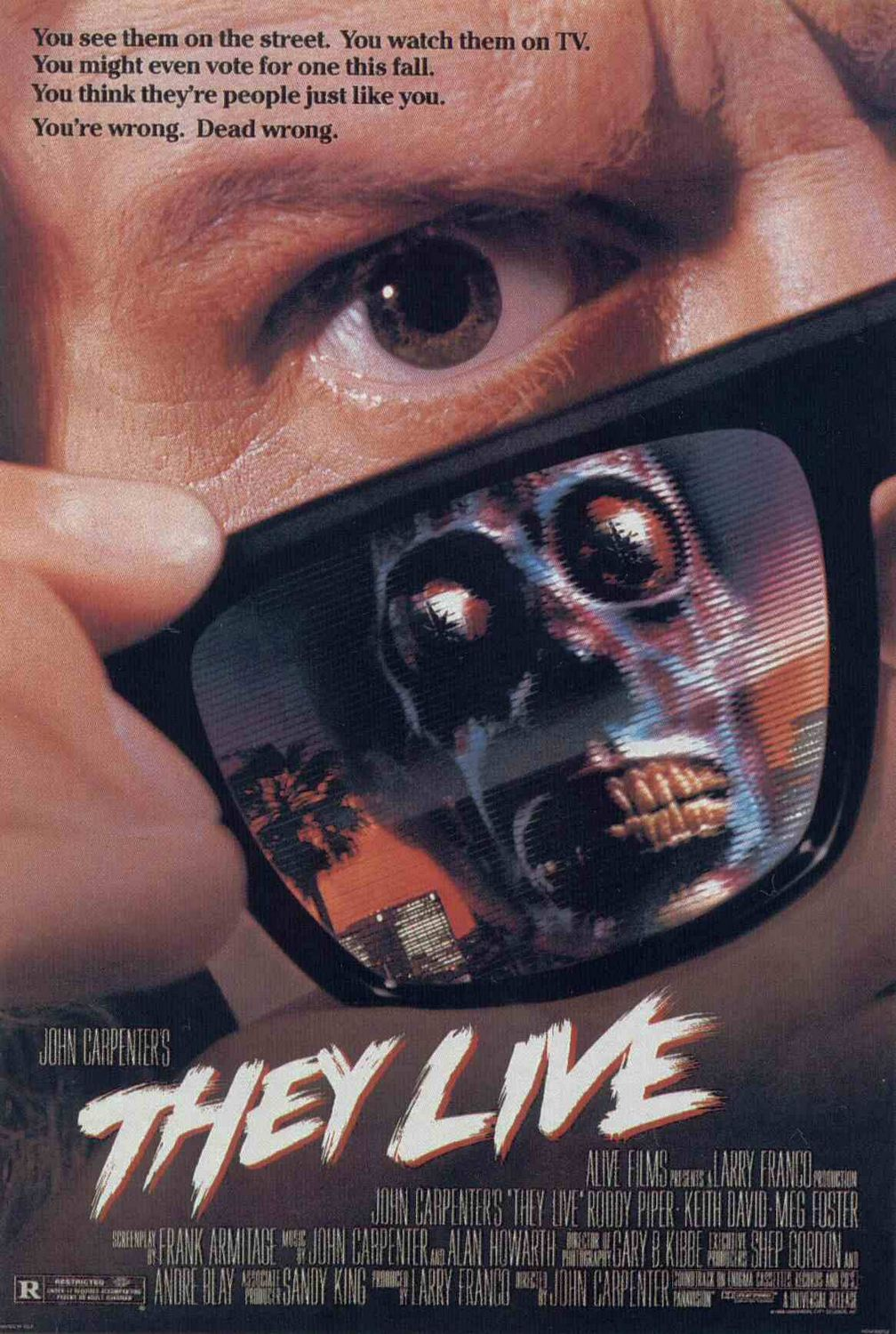they live xlg - This Day in Horror History: John Carpenter's THEY LIVE Opened in 1988