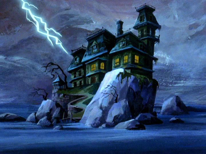 11scoobydoo - The Background Paintings of Scooby Doo Are Delightfully Creepy and Rather Beautiful