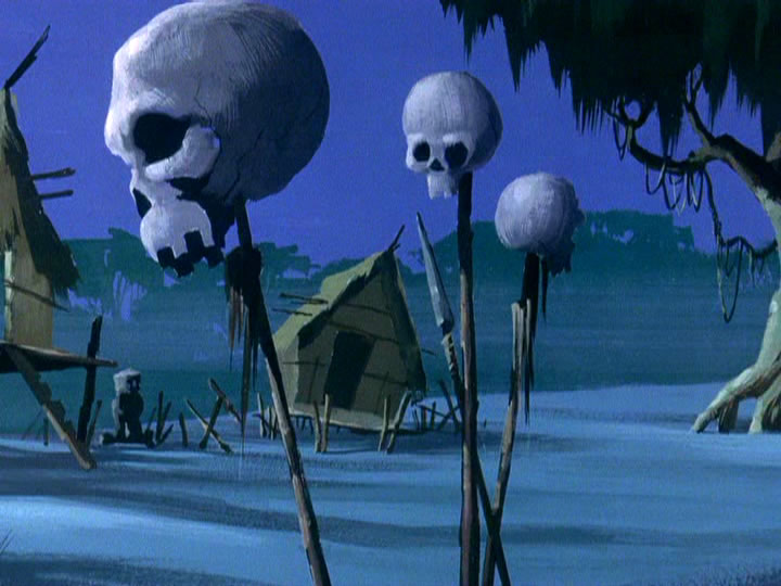 23scoobydoo - The Background Paintings of Scooby Doo Are Delightfully Creepy and Rather Beautiful