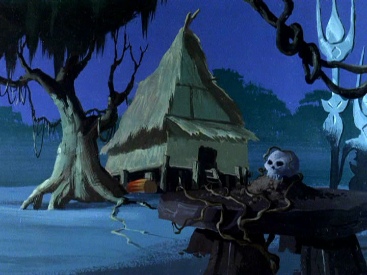 8scoobydoo - The Background Paintings of Scooby Doo Are Delightfully Creepy and Rather Beautiful