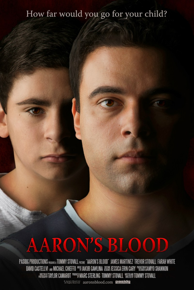 Aarons Blood Poster - Vampire Drama Thriller Aaron's Blood Gets Limited Theatrical Release Date