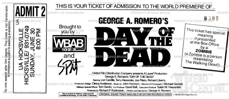 DOTD Ticked Back WM - Horror History: Day of the Dead - Fan Corrects Official Premiere Date
