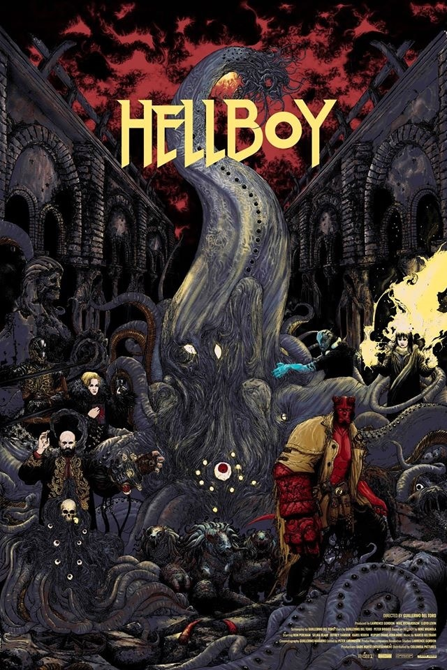 Hellboy by Zakuro Aoyama - 12 Stunning Alternate Posters for Guillermo del Toro Films