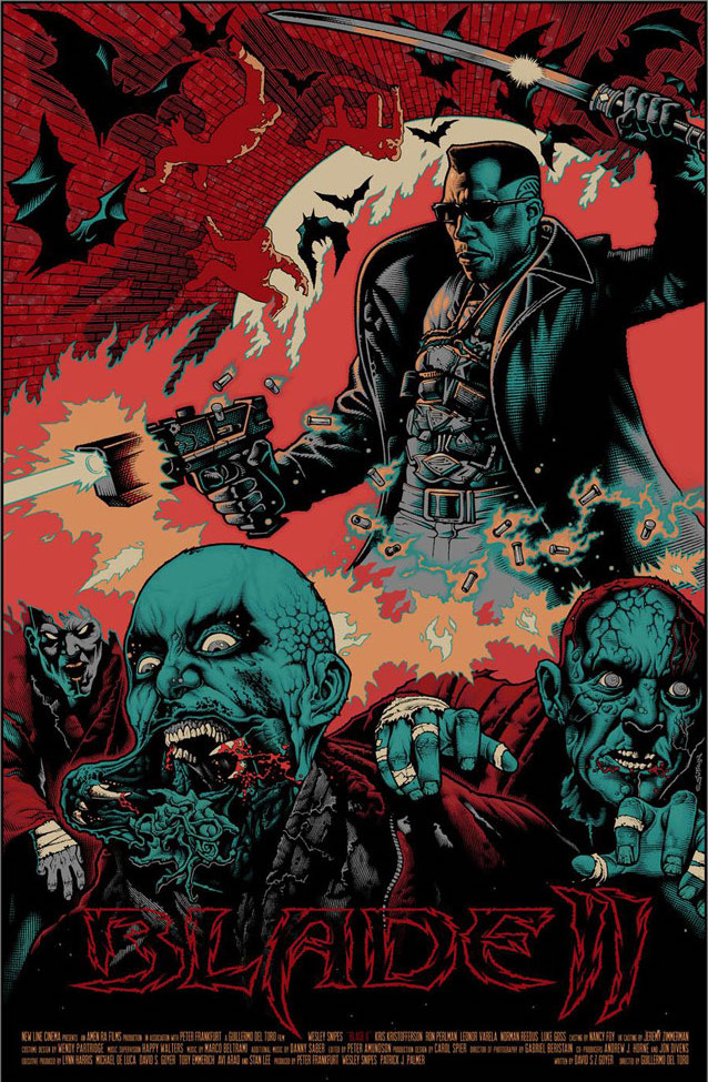 blade II mike sutfin - 12 Stunning Alternate Posters for Guillermo del Toro Films