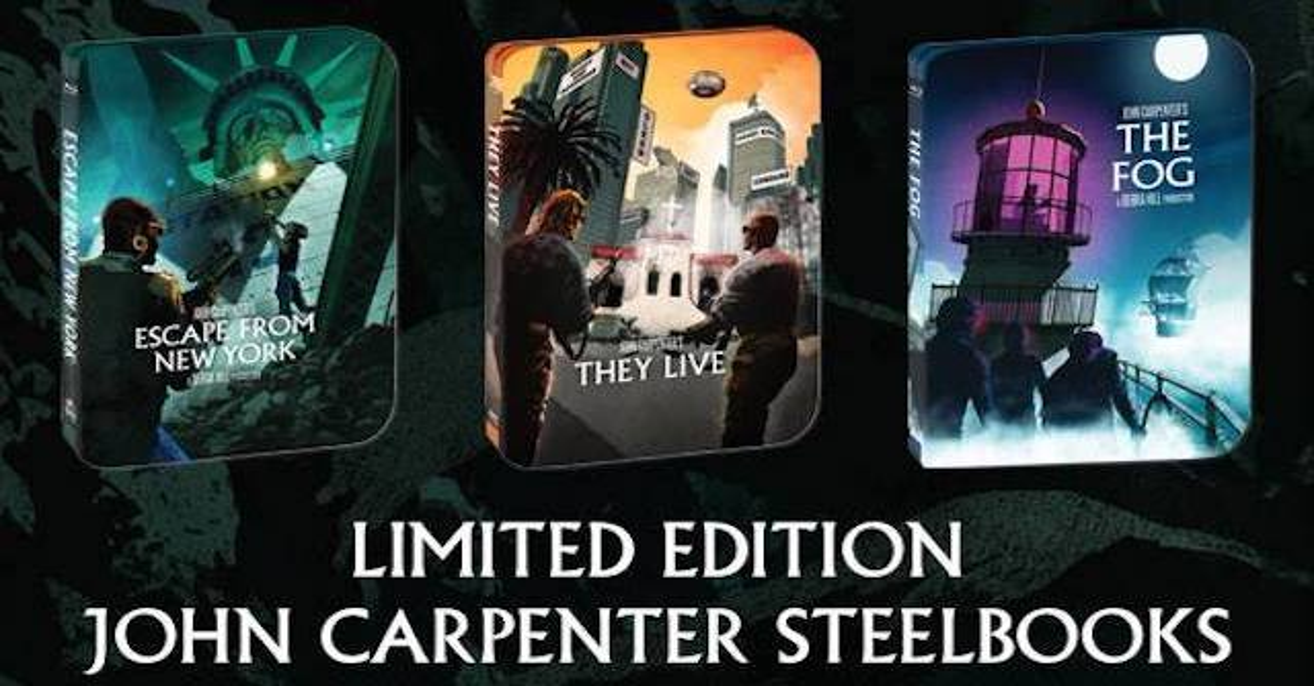 johncarpentersteelbookscreamfactorybanner - Scream Factory Announces Three John Carpenter Steelbooks