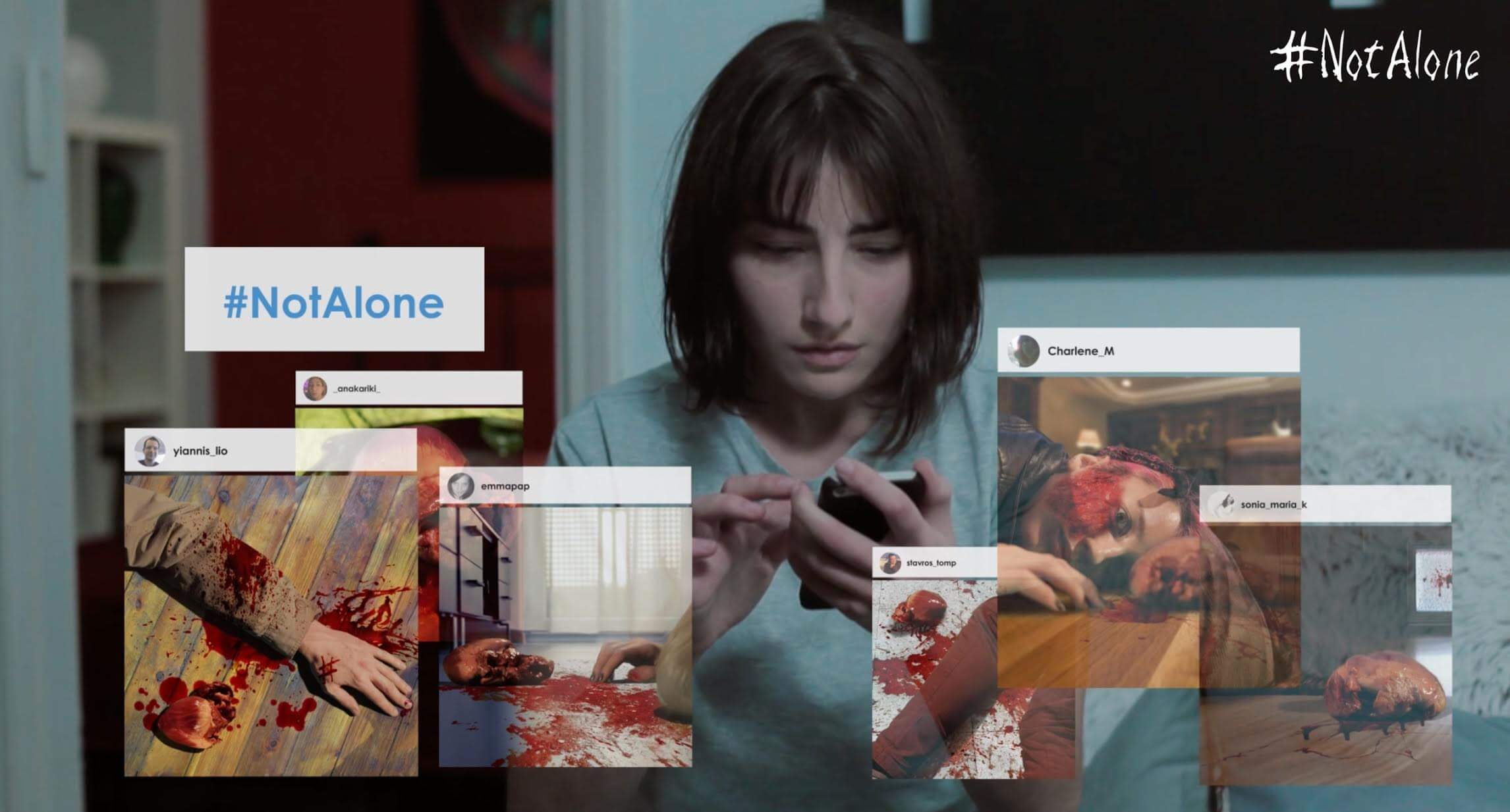 not alone 1 - Watch Now: Social Media Horror Short #NotAlone