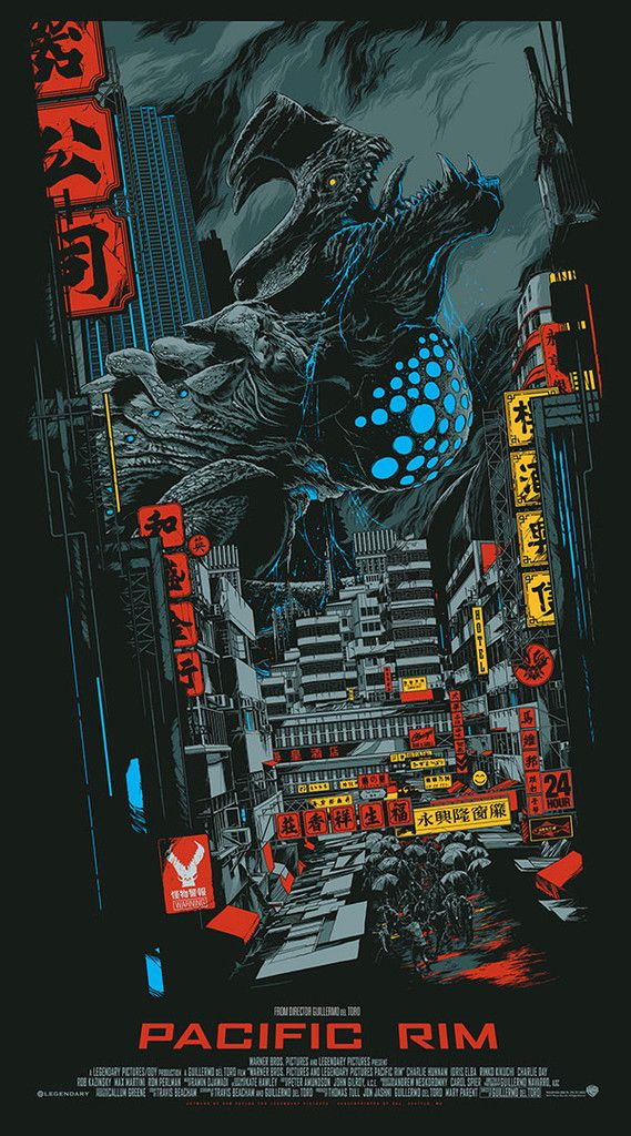pacificrim ken taylor - 12 Stunning Alternate Posters for Guillermo del Toro Films