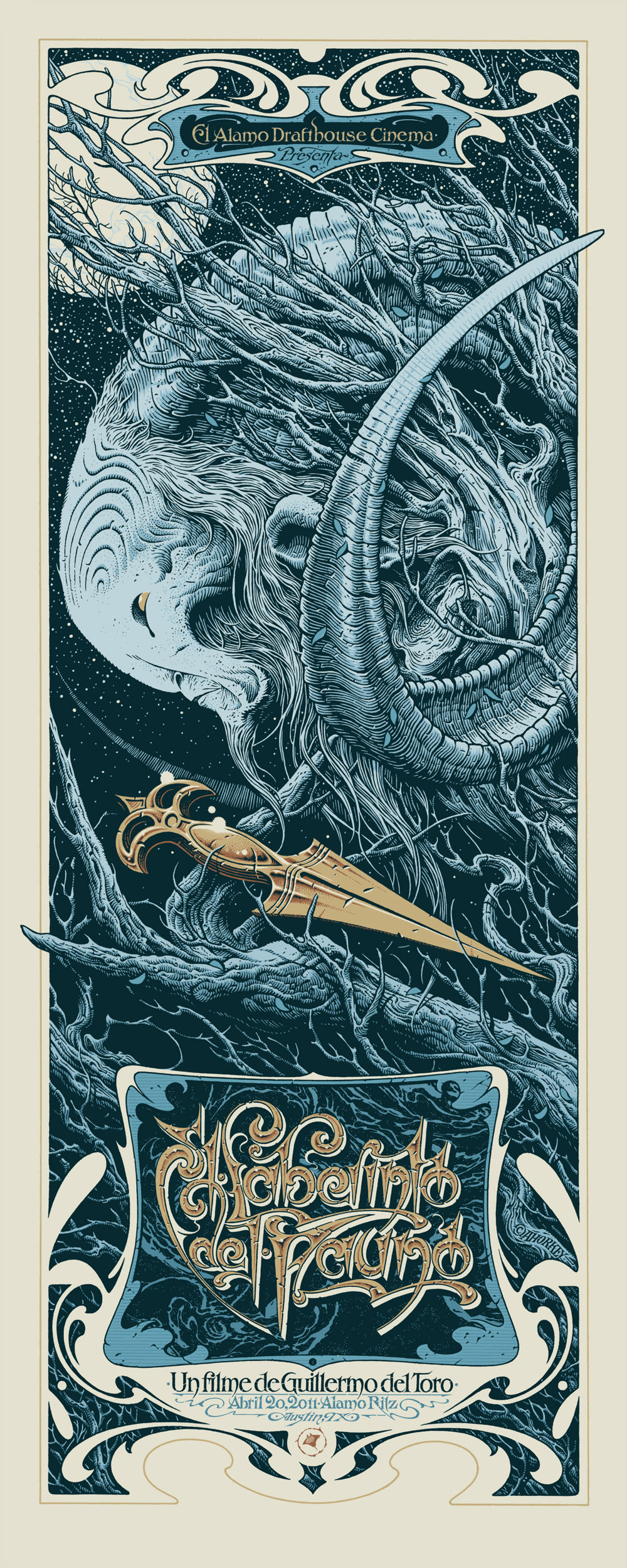 pans labyrinth poster mondo aaron horkey - 12 Stunning Alternate Posters for Guillermo del Toro Films