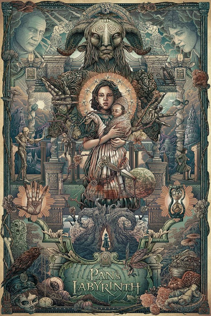 panslabyrinth Ise Ratta Ananphada - 12 Stunning Alternate Posters for Guillermo del Toro Films