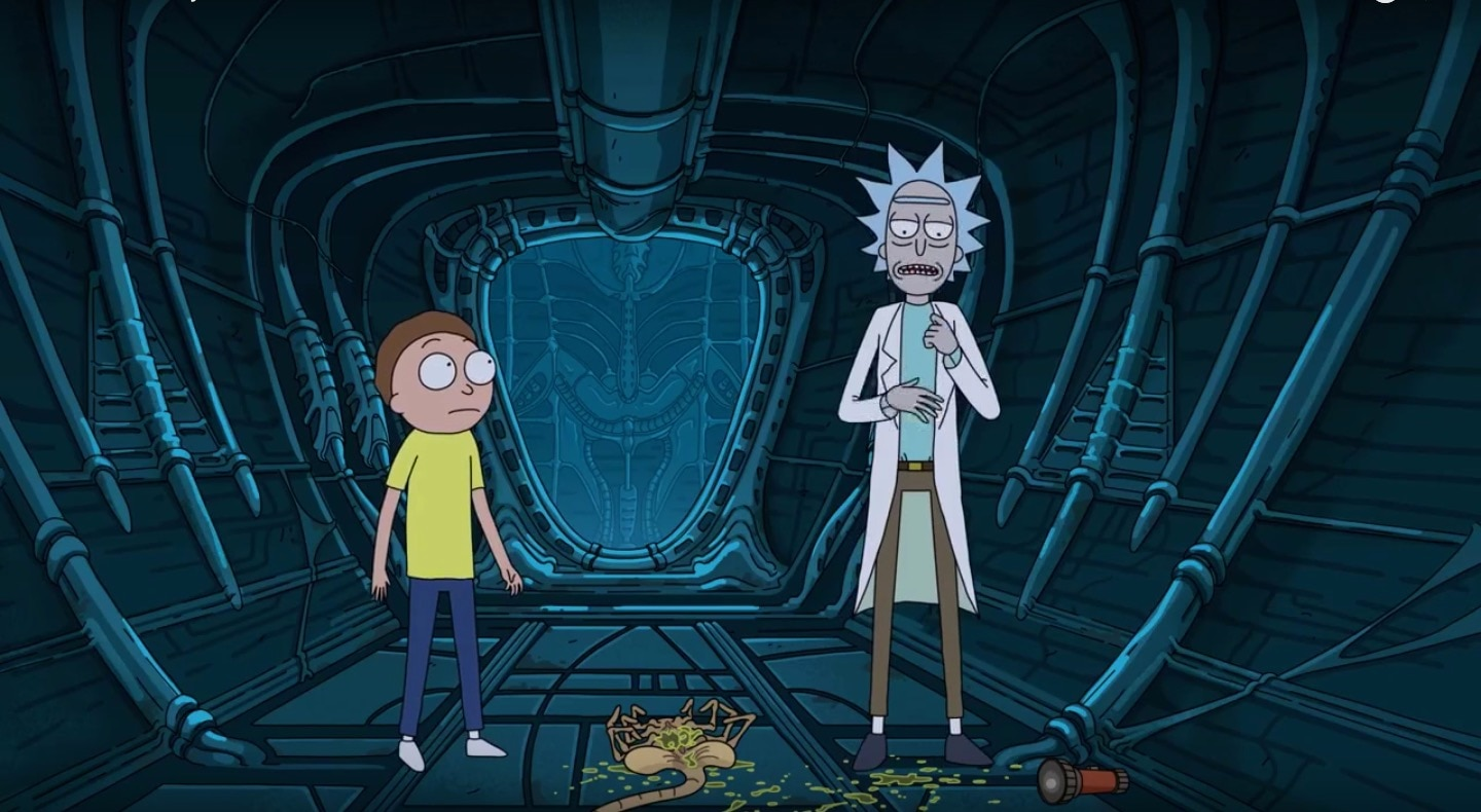 rickandmortyalienbanner - Rick and Morty Know How to Defeat Facehuggers in This Great Alien: Covenant Spoof!