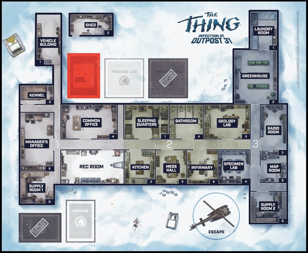 thethingboardgame2 - #SDCC17: Get Up Close and Personal with Mondo's The Thing: Infection at Outpost 31