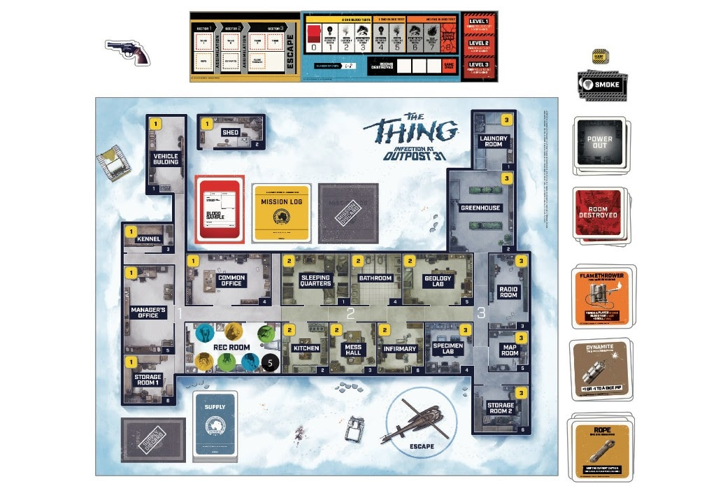 thethingboardgame3 - #SDCC17: Get Up Close and Personal with Mondo's The Thing: Infection at Outpost 31