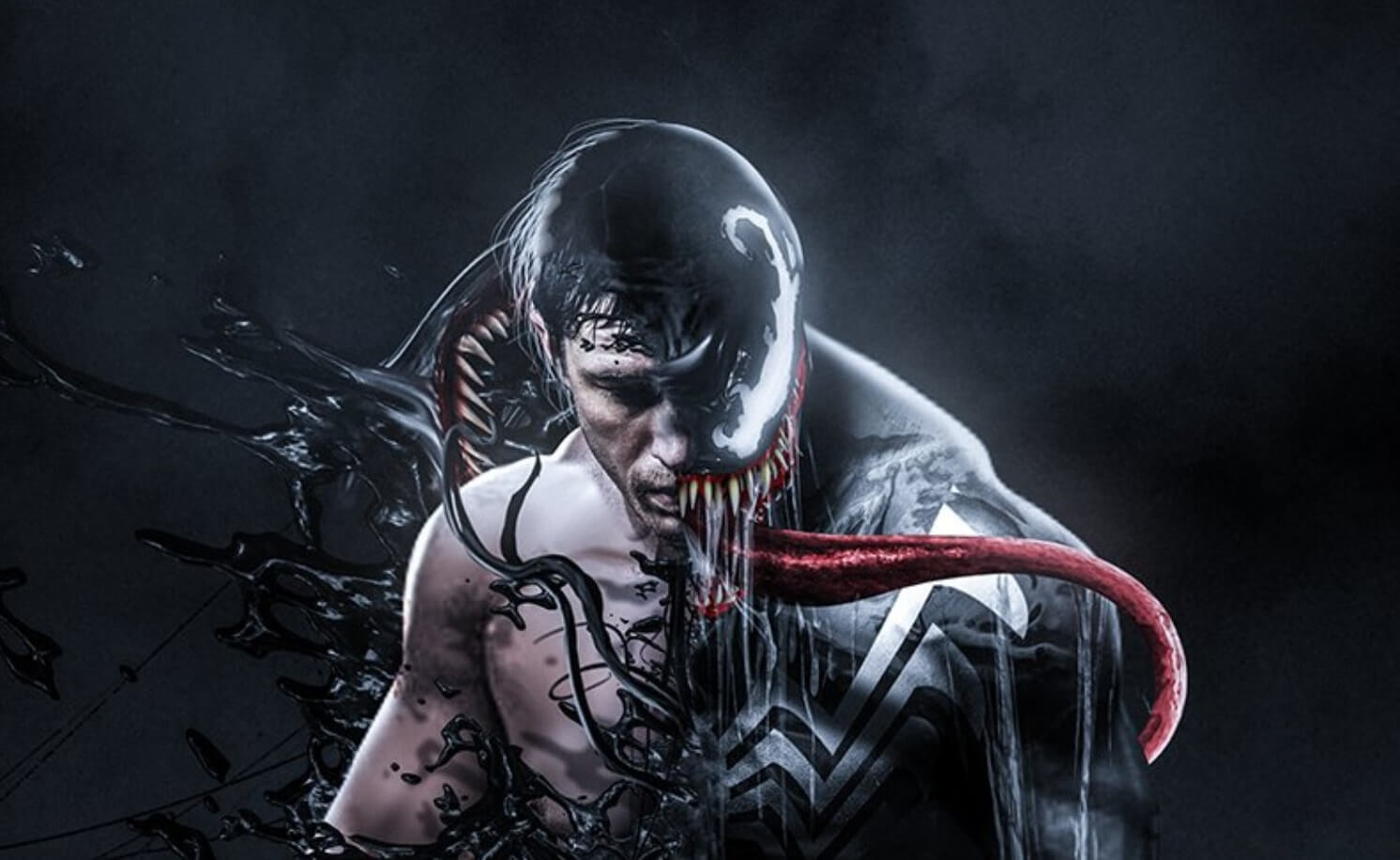 tom hardy transforms into venom in awesome fan art dread central