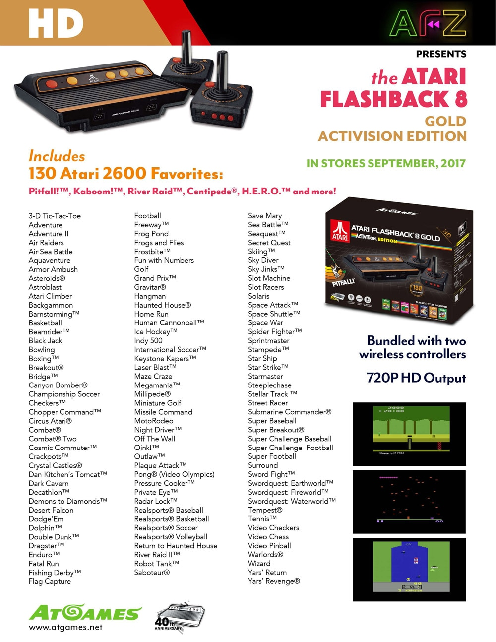 Geek boner alert atari and sega genesis return in new - Atari flashback classic game console game list ...