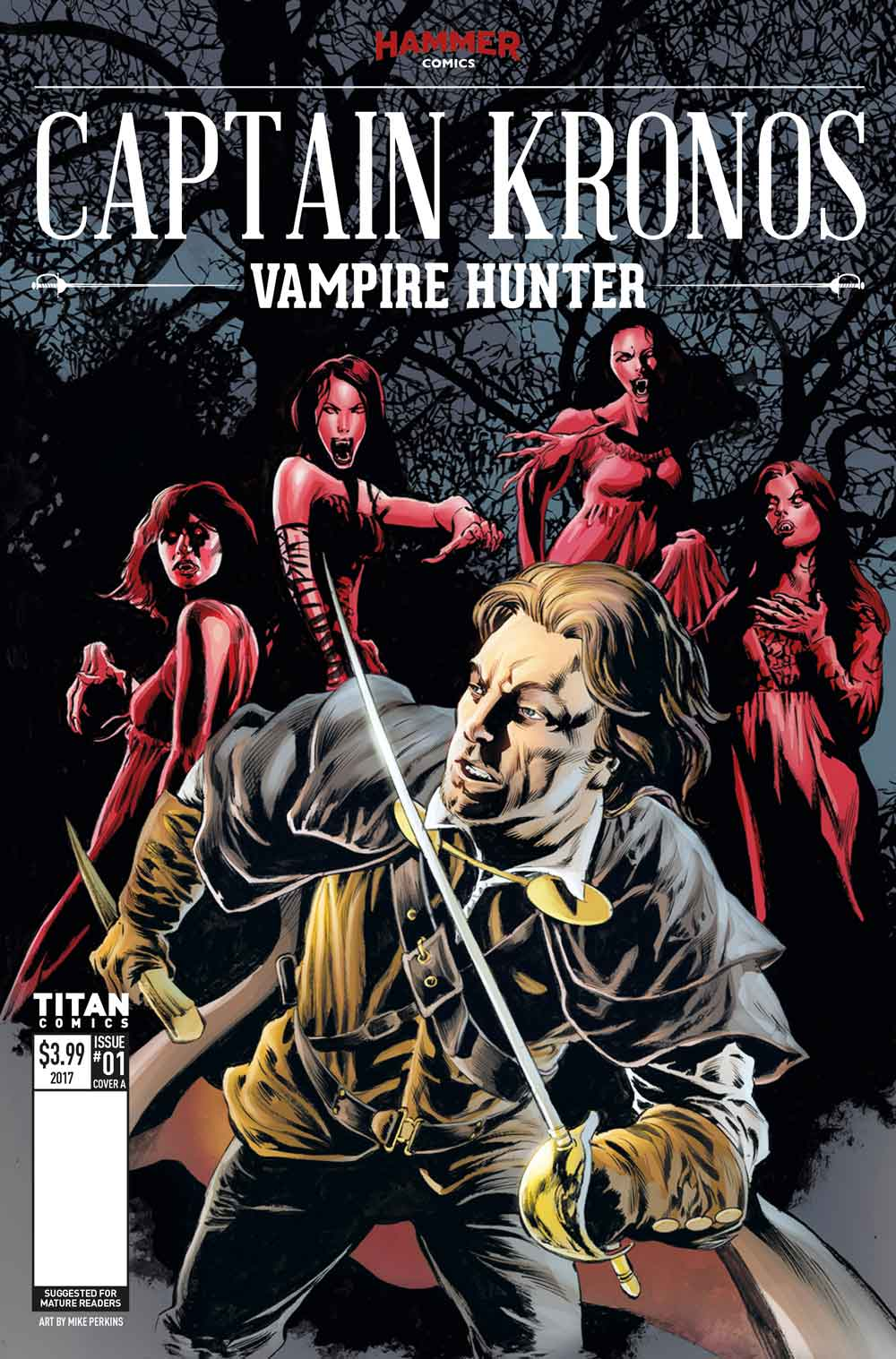 CapKronos Cover A Mike Perkins - Exclusive Reveal of Color Pages from Hammer Horror's Captain Kronos: Vampire Hunter