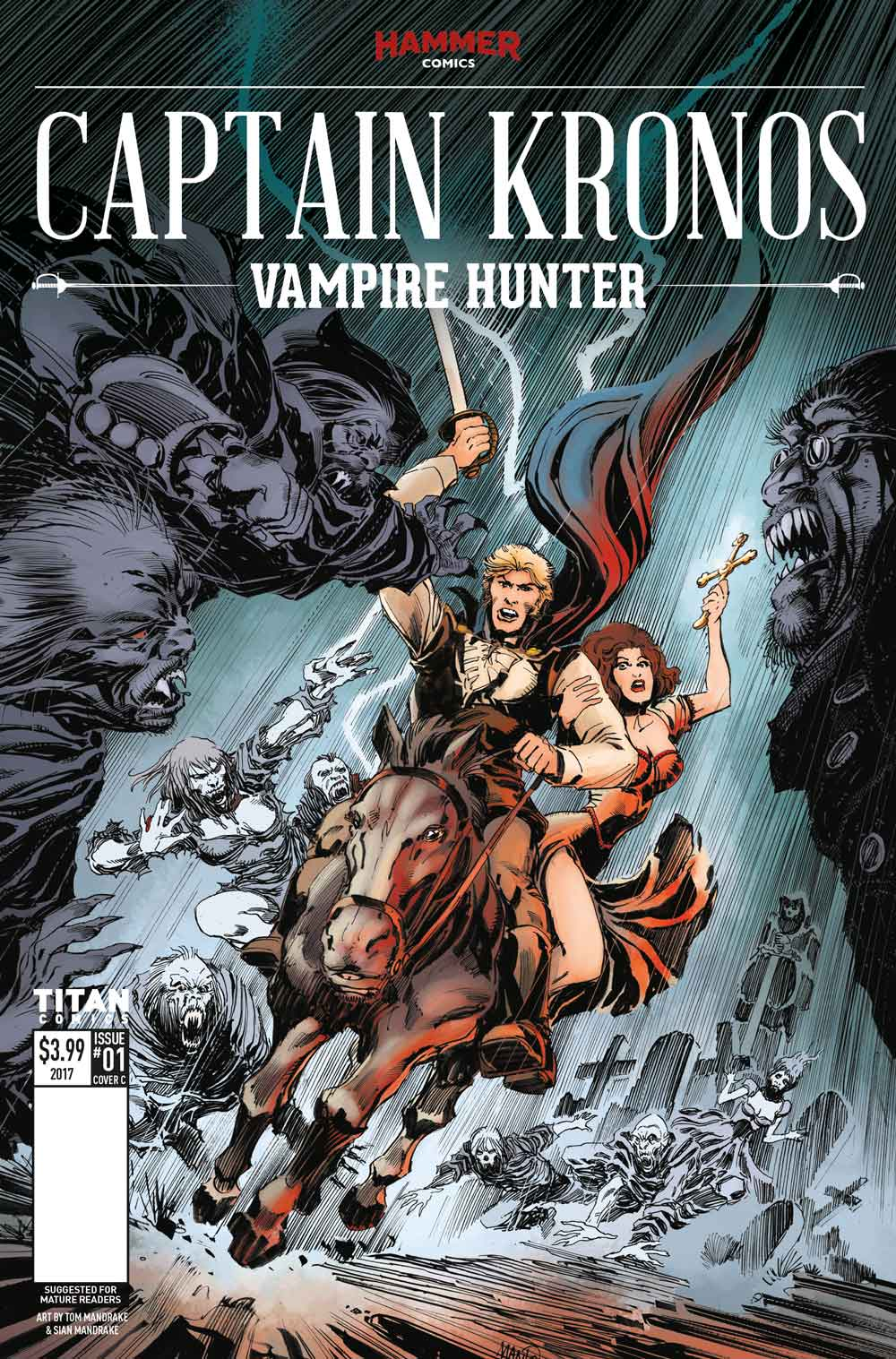 CapKronos Cover C Tom Mandrake - Exclusive Reveal of Color Pages from Hammer Horror's Captain Kronos: Vampire Hunter