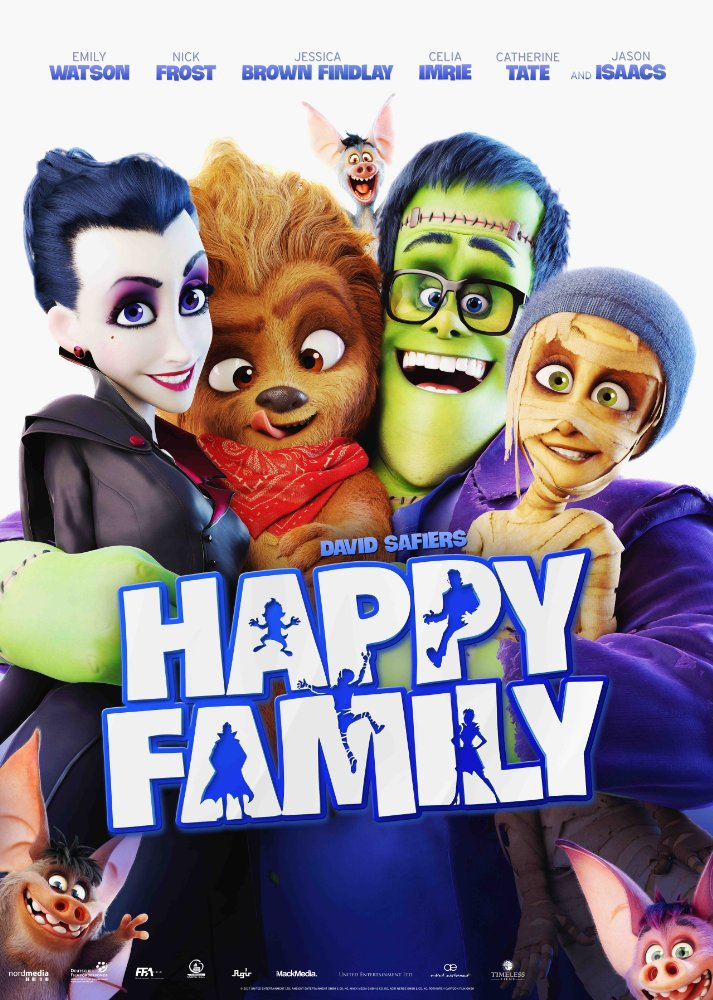 Happy Family movie poster - Turning Into Monsters Can Make You One Big Happy Family