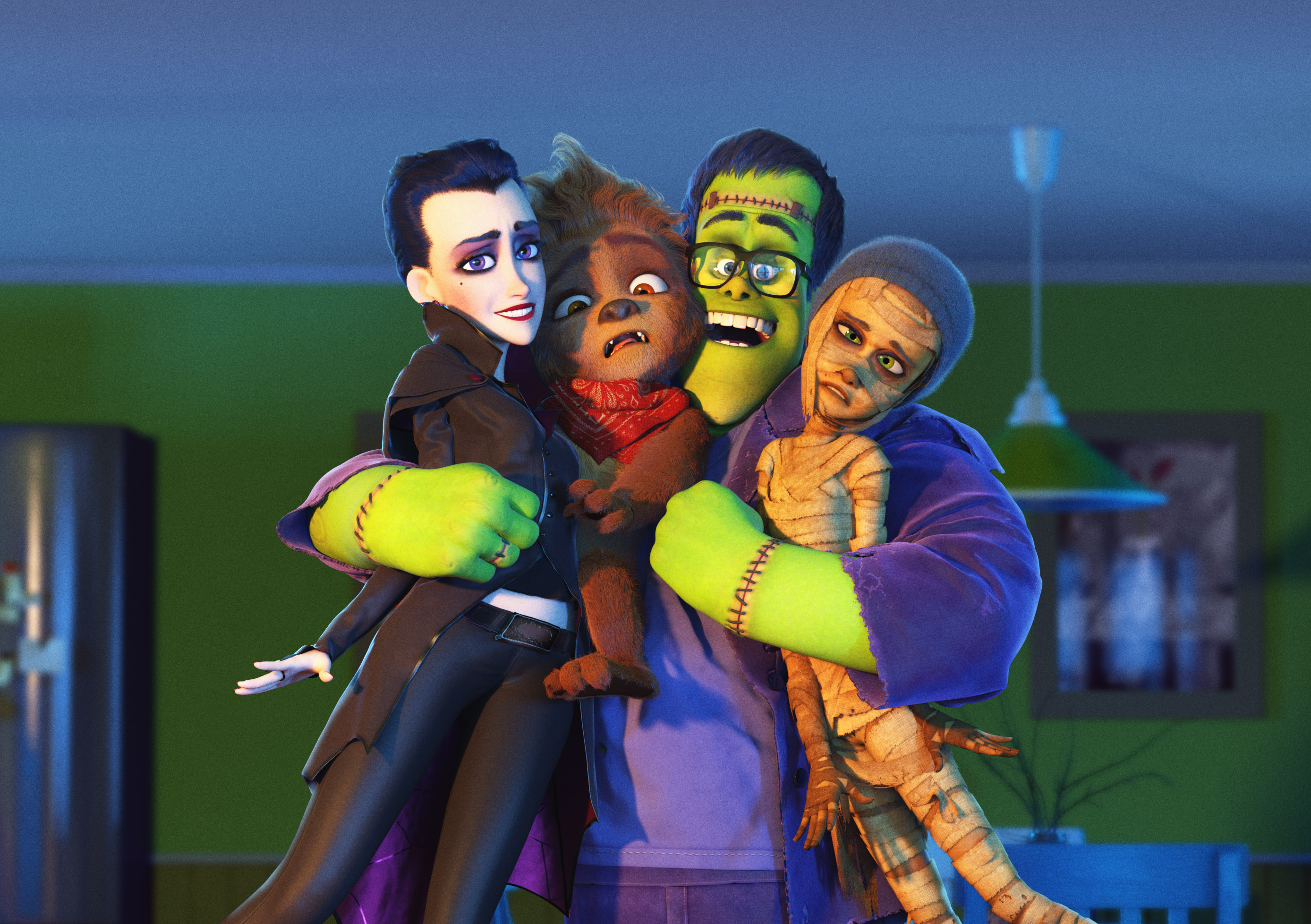 Happy Family Macation - Turning Into Monsters Can Make You One Big Happy Family