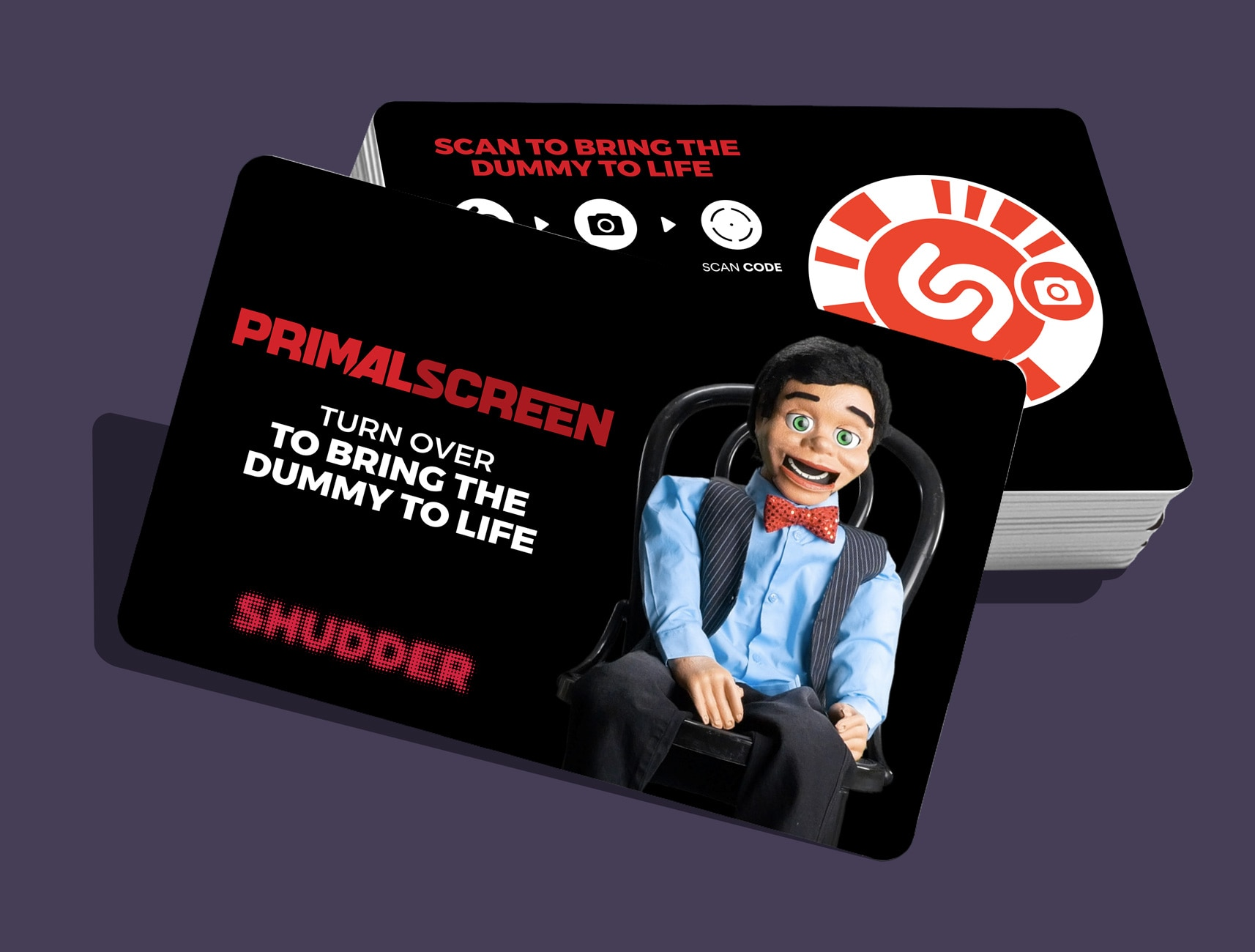 Shudder Sharetape AR 2 - Contest: Win a Creepy Virtual Ventriloquist Dummy Card With One Free Month of Shudder!