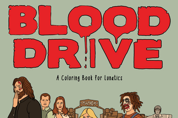 Image result for blood drive syfy coloring book
