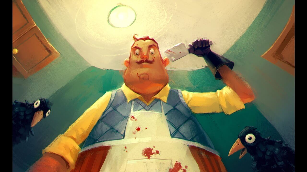 hello neighbor meat cleaver 1 - E3 2017: Hello Neighbor Breaking and Entering on August 29th