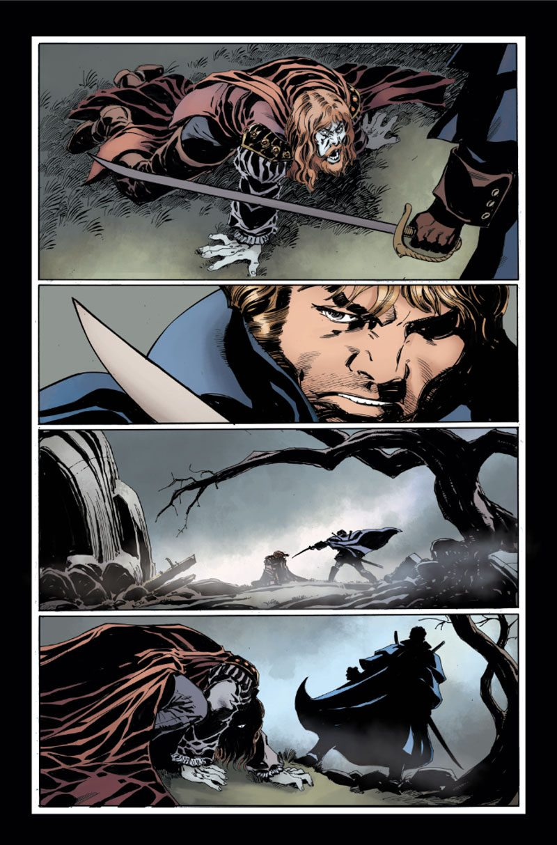 KRONOS1pg2 PREVIEW - Exclusive Reveal of Color Pages from Hammer Horror's Captain Kronos: Vampire Hunter
