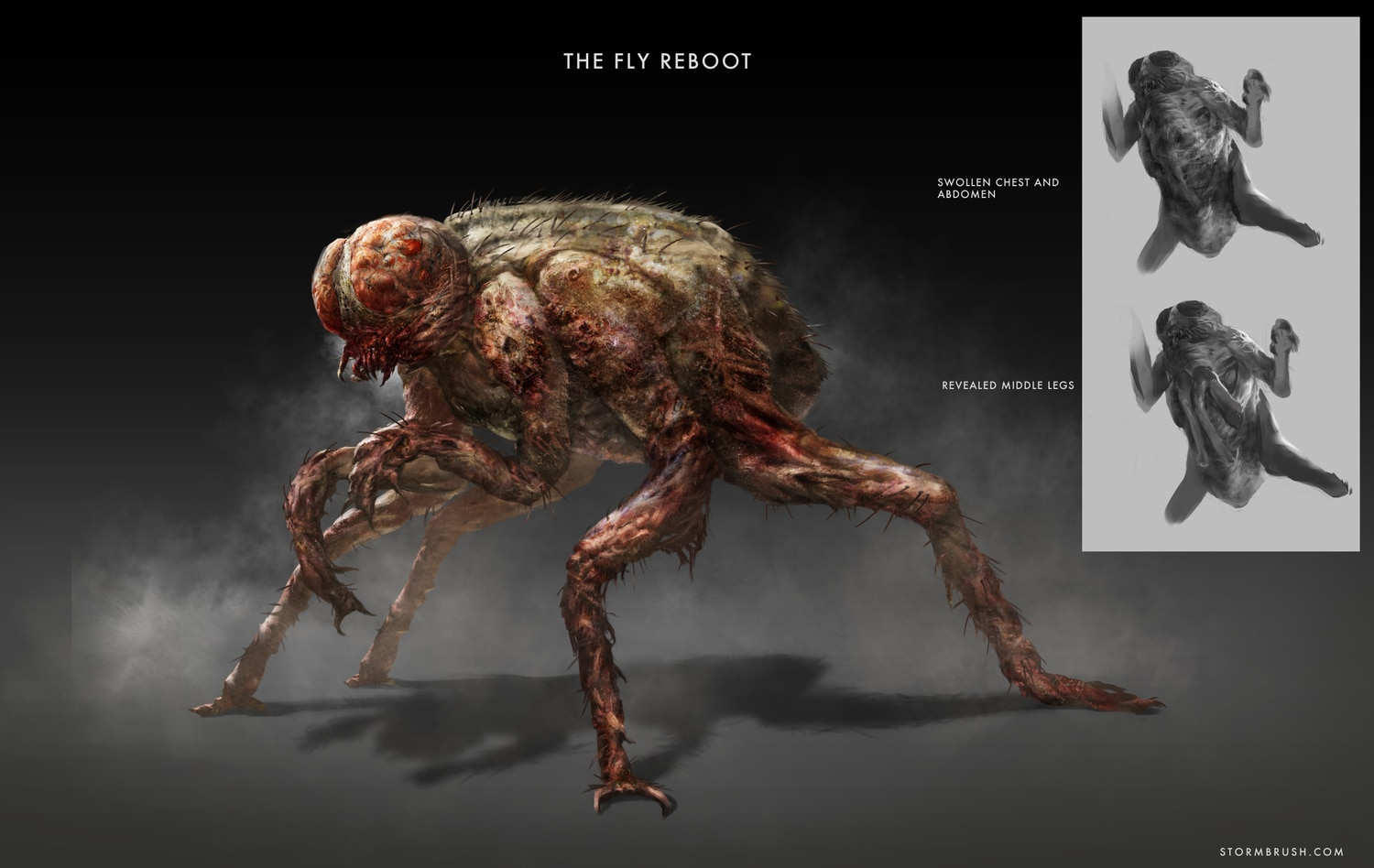 Thefly body stormbrush - 3D Artist Creates Bold New Brundlefly Fan Design For The Fly