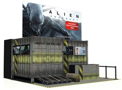 aliencovenant sdcc - #SDCC17: Alien: Covenant Invading San Diego with Colonist Certification Test
