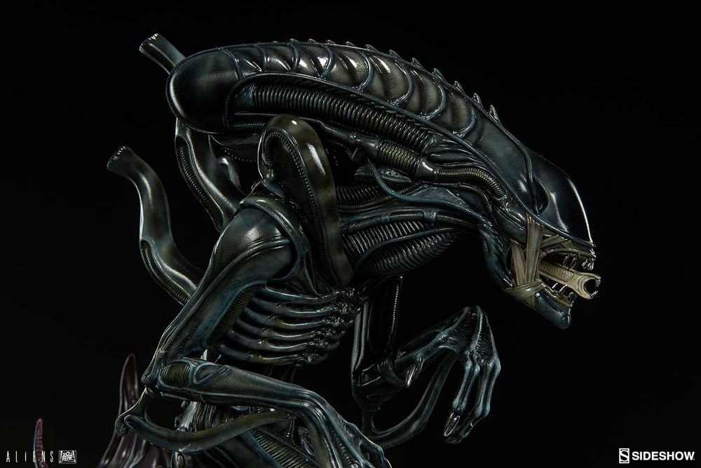 Sideshow teases new aliens figures alien warrior and alien queen the alien warrior is faithfully rendered with hr gigers visionary bio industrial aesthetic with an incredibly detailed exoskeleton and sinewy thecheapjerseys Choice Image