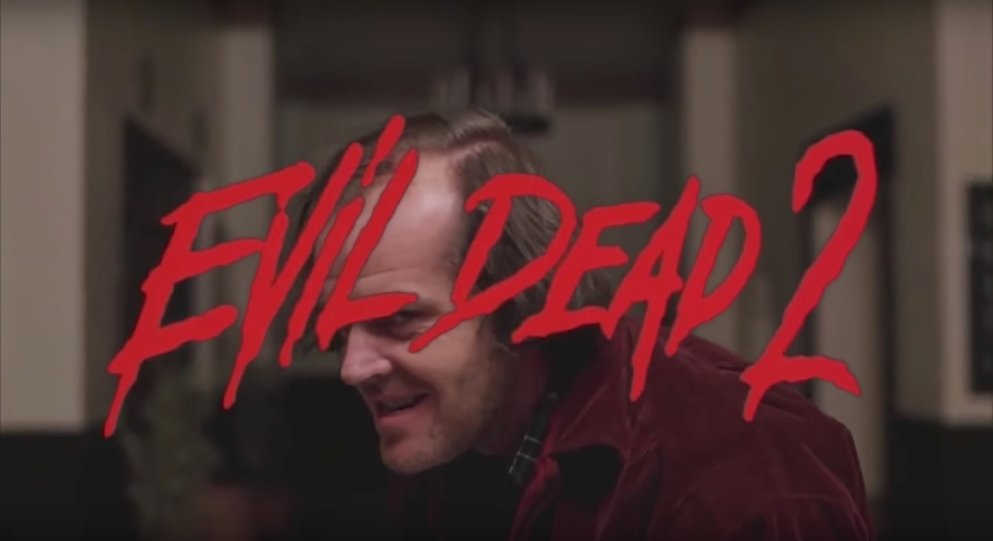 evildead2shiningbanner - Someone Laid the Evil Dead 2 Trailer Audio Over Footage From The Shining...and it Works!