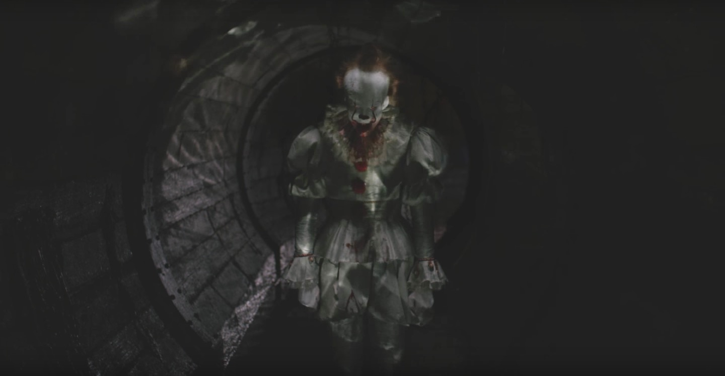 ittrailerteaserpennywise - New Teaser for IT Trailer Gives a Fresh Look at Pennywise