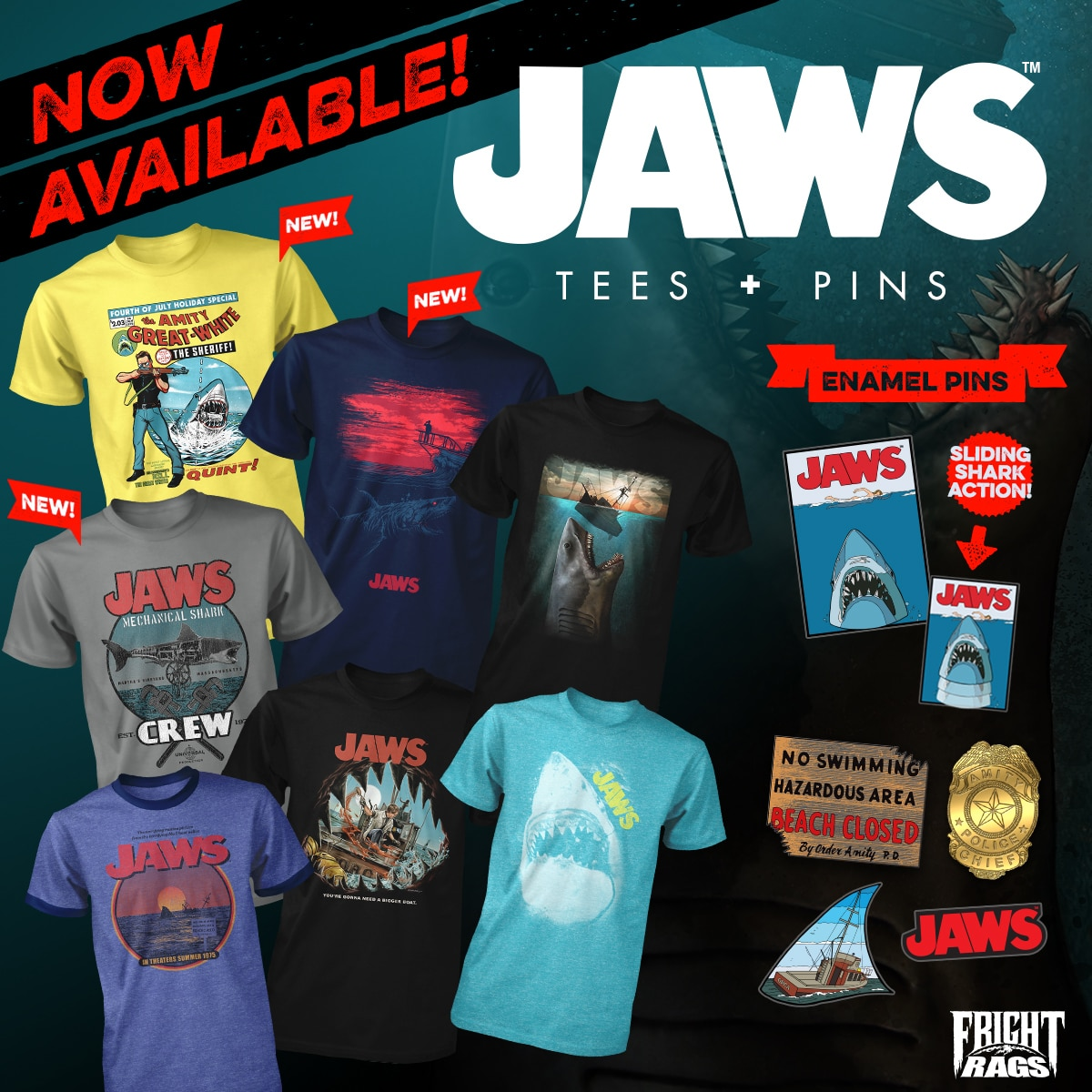 Fright Rags Opens Sales on Jaws and Elvira Collections