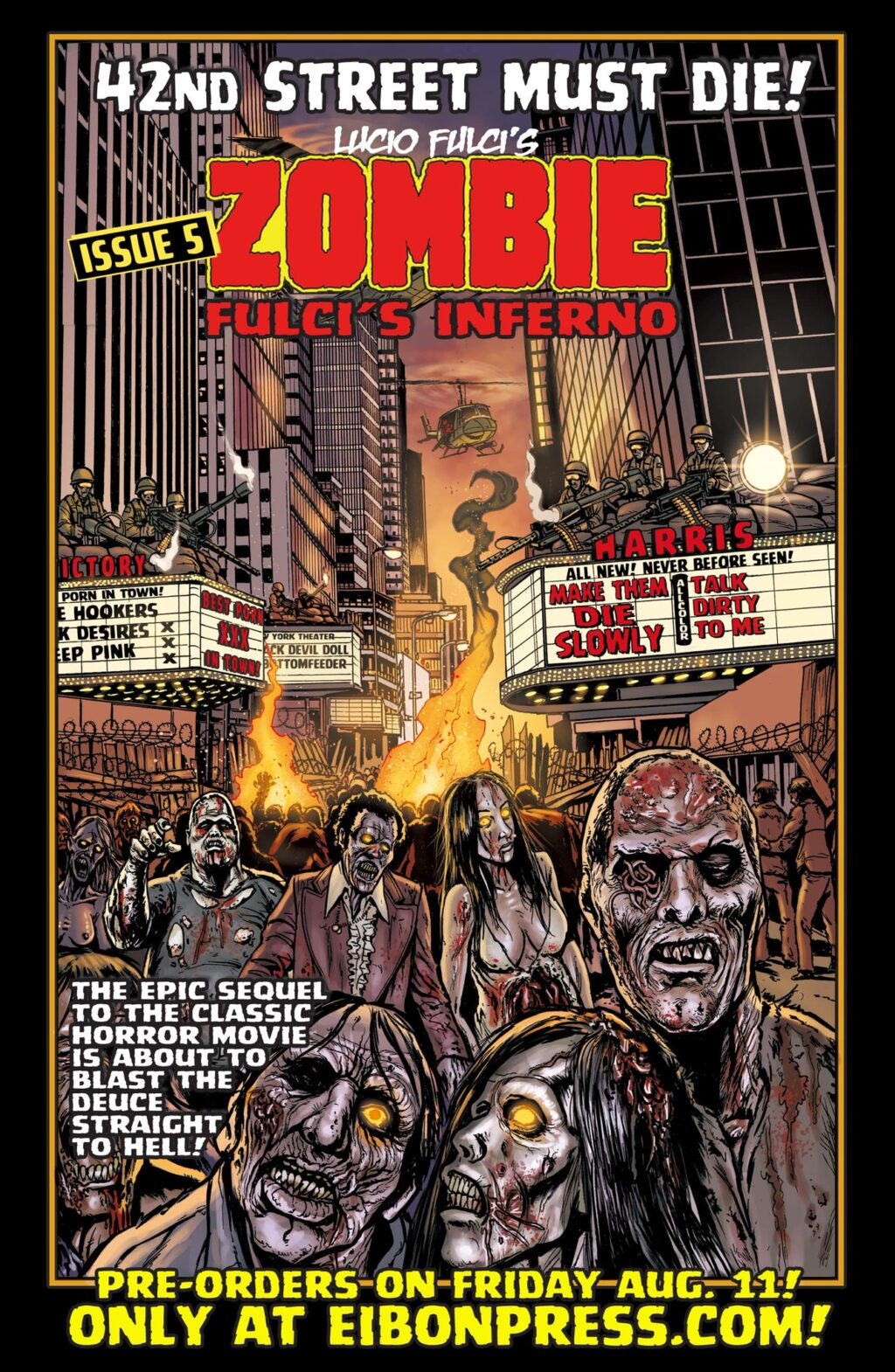 DDdQLYhVoAAFE6H 1024x1570 - The Official SEQUEL to LUCIO FULCI'S ZOMBIE in just THREE DAYS!