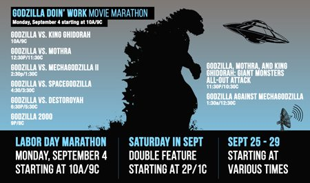 comet tv destroys labor day weekend with a godzilla marathon new september releases dread. Black Bedroom Furniture Sets. Home Design Ideas