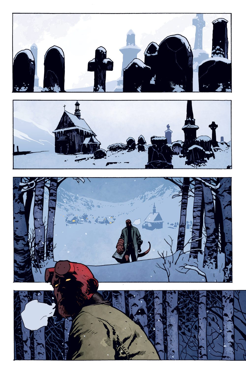 HBYKRMP PG 01 SOL - Exclusive Preview of Mike Mignola and Adam Hughes' Hellboy: Krampusnacht