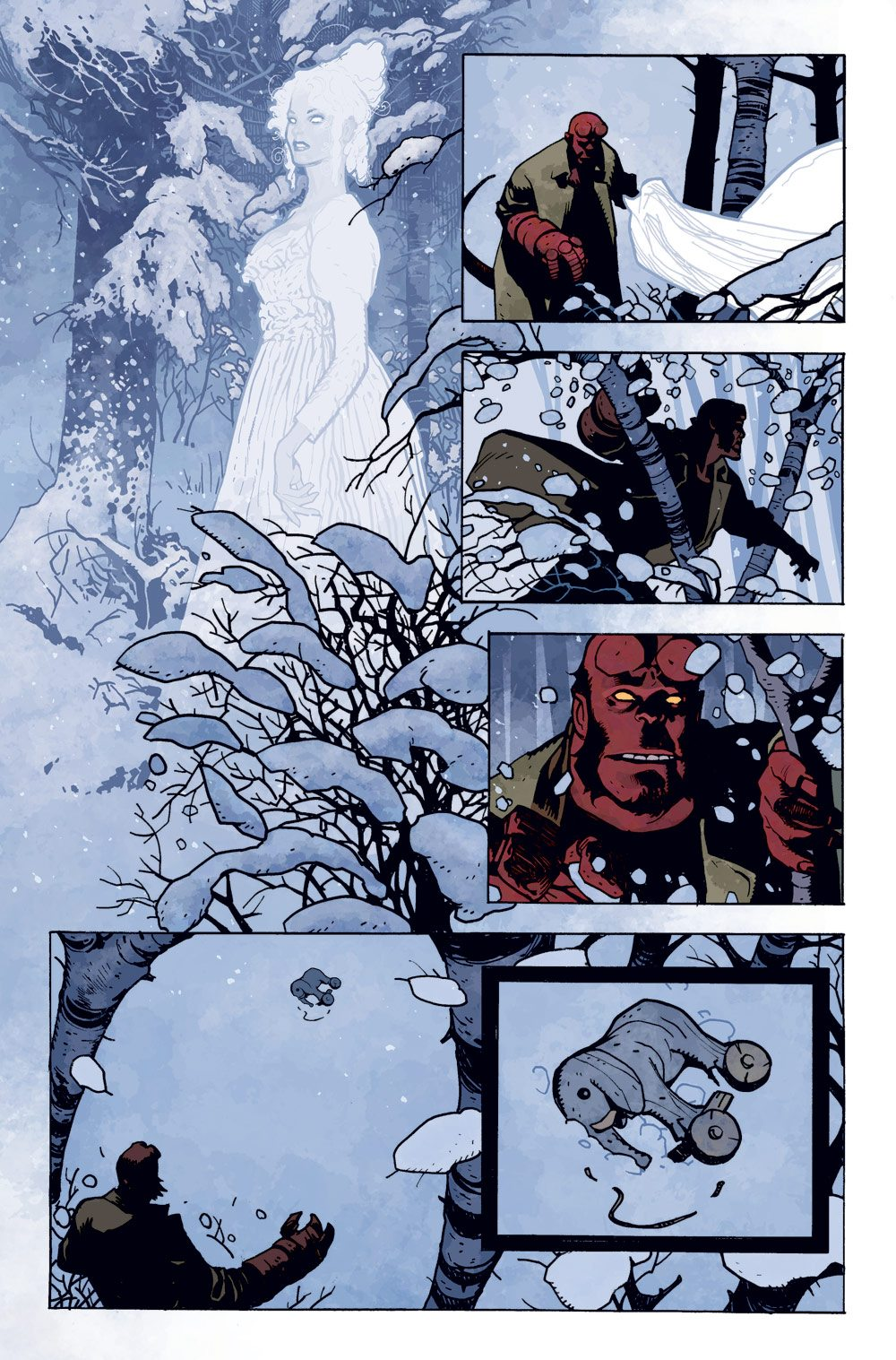 HBYKRMP PG 02 SOL - Exclusive Preview of Mike Mignola and Adam Hughes' Hellboy: Krampusnacht