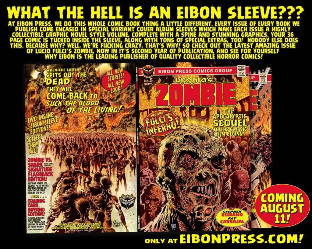 SLEEVE AD2 min 1024x819 - The Official SEQUEL to LUCIO FULCI'S ZOMBIE in just THREE DAYS!
