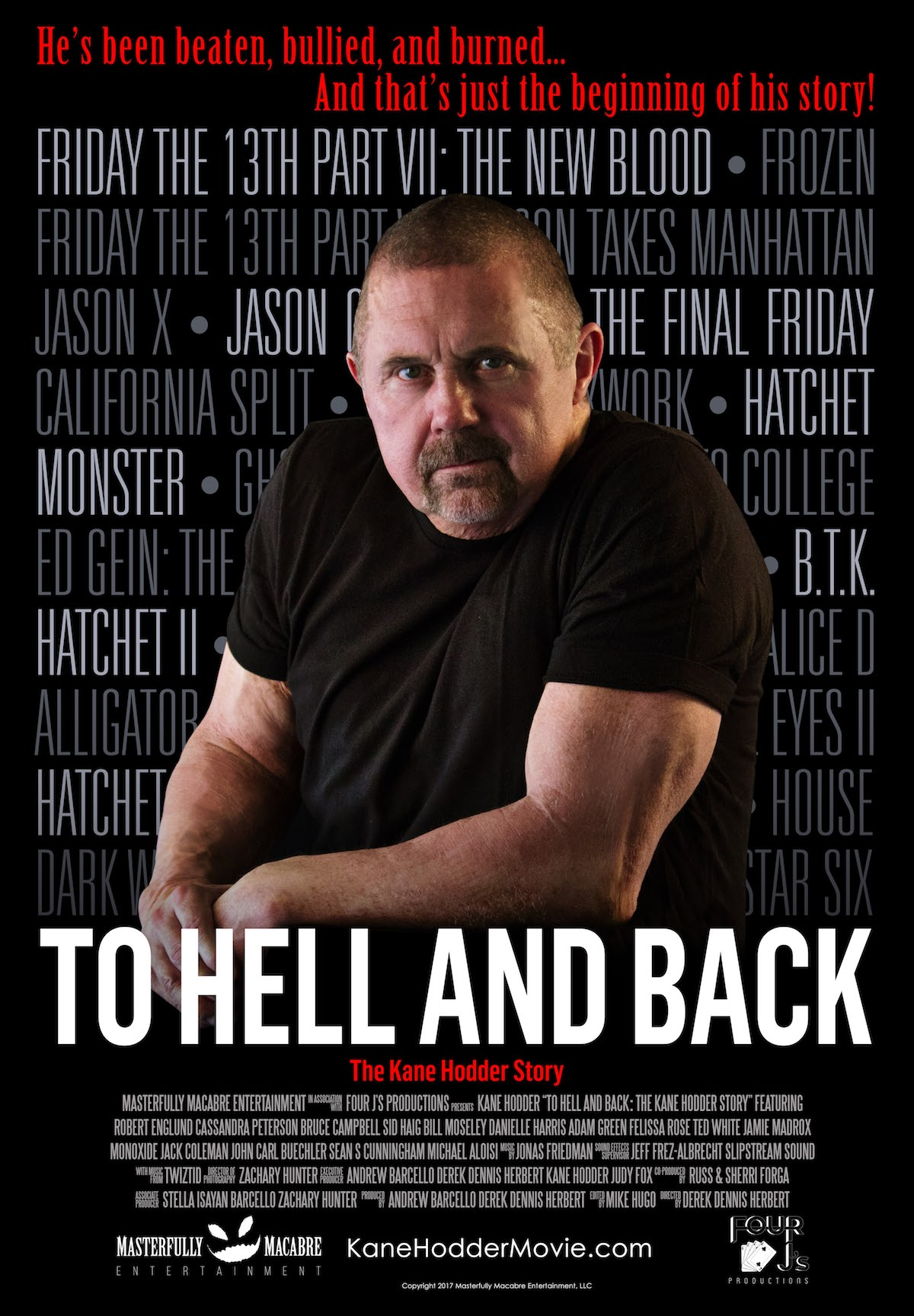 To Hell and Back Theatrical Poster - Exclusive Interview: Kane Hodder Talks Biopic To Hell and Back: The Kane Hodder Story at Screamfest