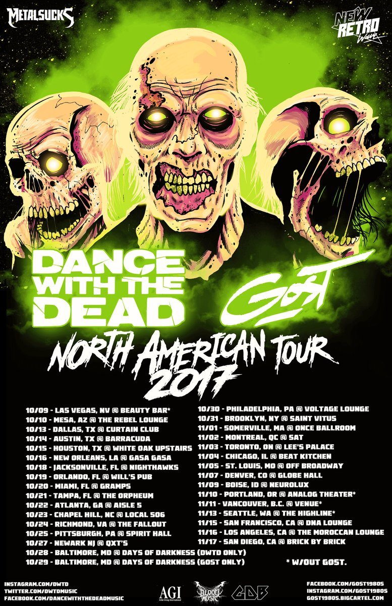 Dance With The Dead And Gost Team Up For North American