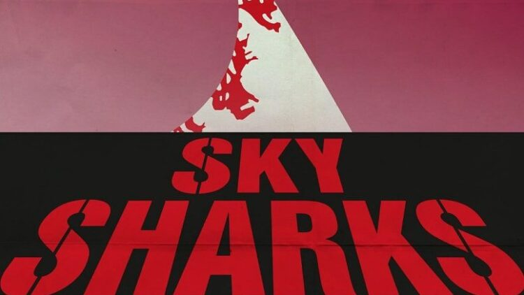 sky sharks new poster 2 750x422 - New Sky Sharks Poster Pays Homage to Dawn of the Dead