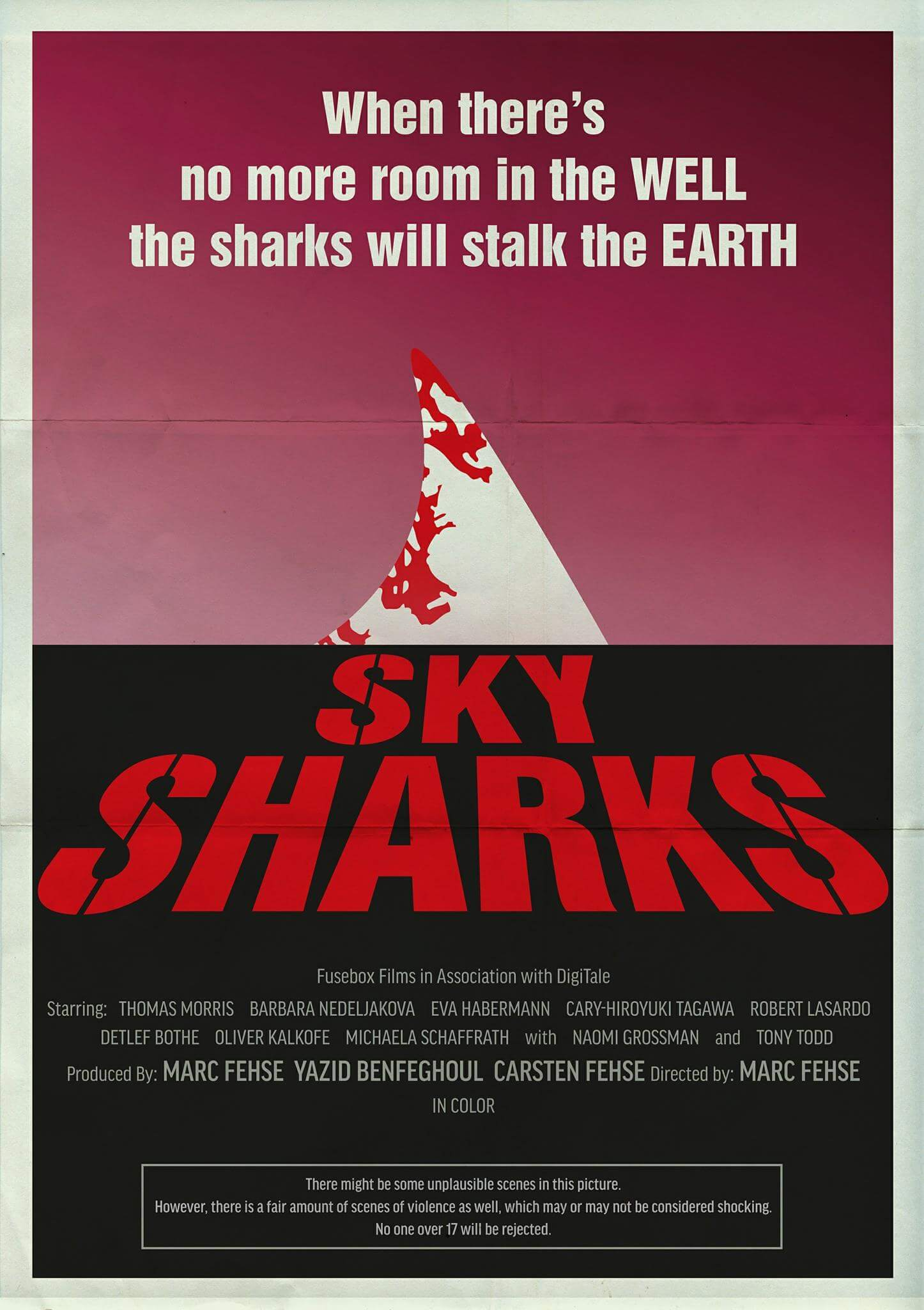 sky sharksnew poster 1 - New Sky Sharks Poster Pays Homage to Dawn of the Dead