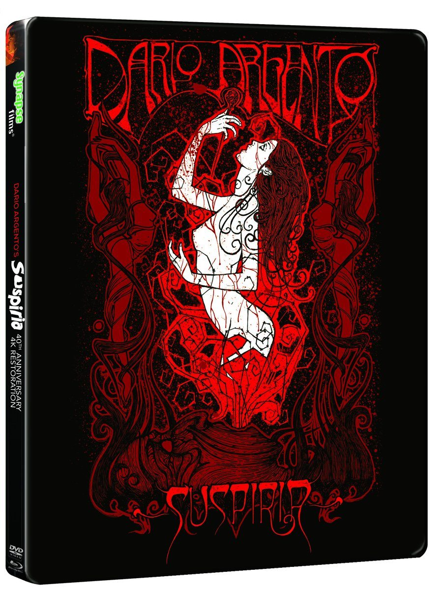 synapsesuspiria4kcover - Synapse Films' Suspiria 4K Restoration is Available For Pre-order!