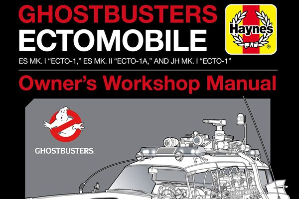 Ghostbusters Ectomobile Manual cover s - Get a Sneak Peek of the Ghostbusters: Ectomobile Owner's Workshop Manual