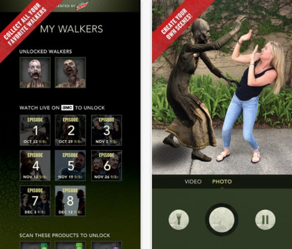 amc mountaindew 1 - AMC and Mountain Dew Team for The Walking Dead Encounter Augmented Reality App