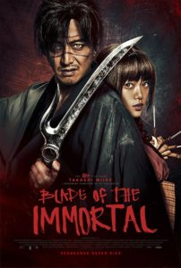 bladeoftheimmortalposter 202x300 - Blade of the Immortal (Fantastic Fest): A Gleeful Explosion of Bodies, Gore, and Violence