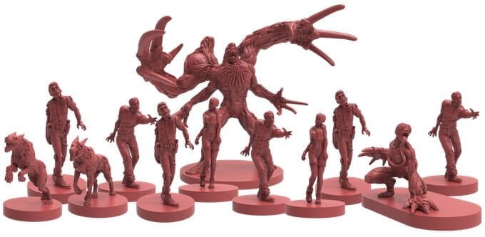 resident evil 2 board game figures 1 - Resident Evil 2: The Board Game Smashes Its Kickstarter Goal in One Hour