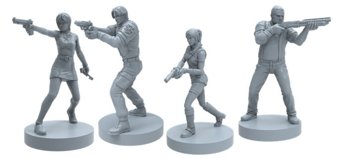 resident evil 2 board game figures2 1 - Resident Evil 2: The Board Game Smashes Its Kickstarter Goal in One Hour