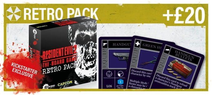 resident evil 2 board game retro pack 1 - Resident Evil 2: The Board Game Smashes Its Kickstarter Goal in One Hour